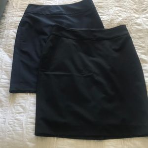 2 women's career pencil skirts
